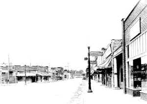 Picture of Main Street in the 1930's (approximately)
